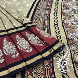 Bagru Hand Block Printed Saree
