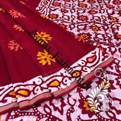 Hand Block Print Silk Sarees - Manufacturer